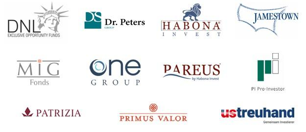 DNL Exclusive Opportunity I – Dr. Peters – Habona – HMW – Jamestown – OneGroup – Pareus – Patrizia – PI Pro Investor – Primus Valor – US Treuhand